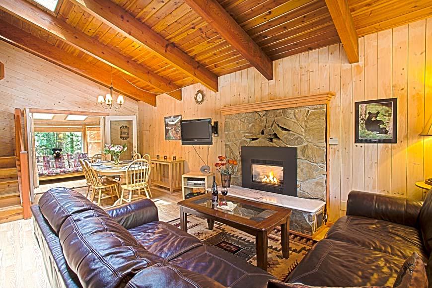 Three Bears Cabin Living Room