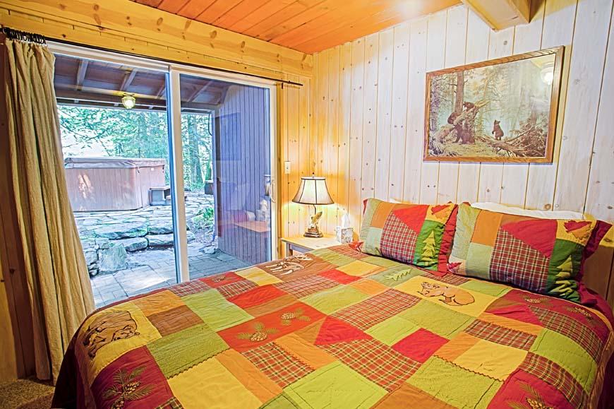 Three Bears Cabin Bedroom