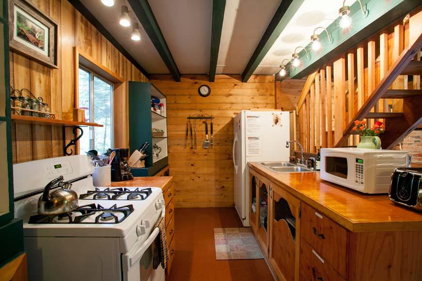 Coho Cabin kitchen