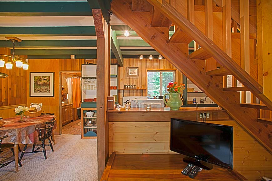 Coho Cabin living space