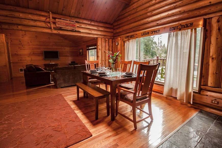 Glowing Pines Log Cabin At Mr Rainier Vacation Rental