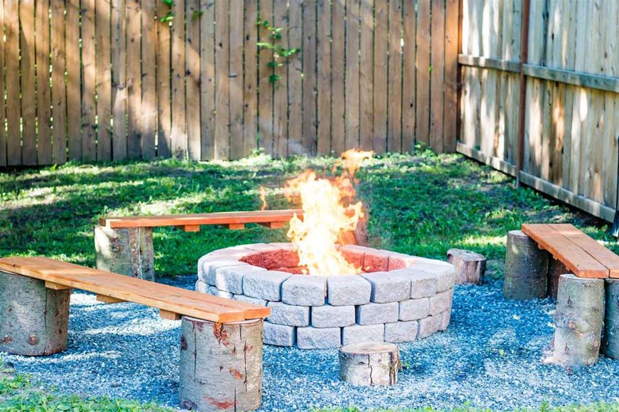 Glowing Pines fire pit
