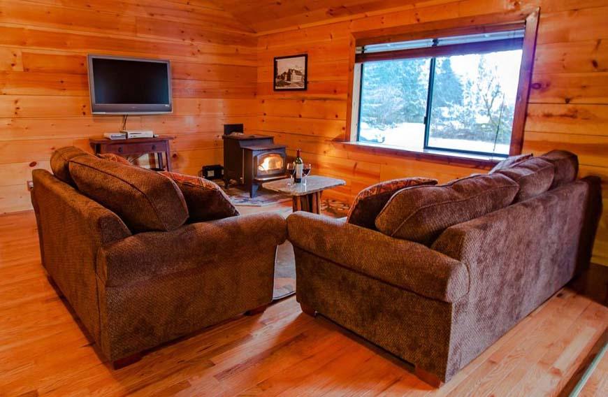 Glowing Pines living room