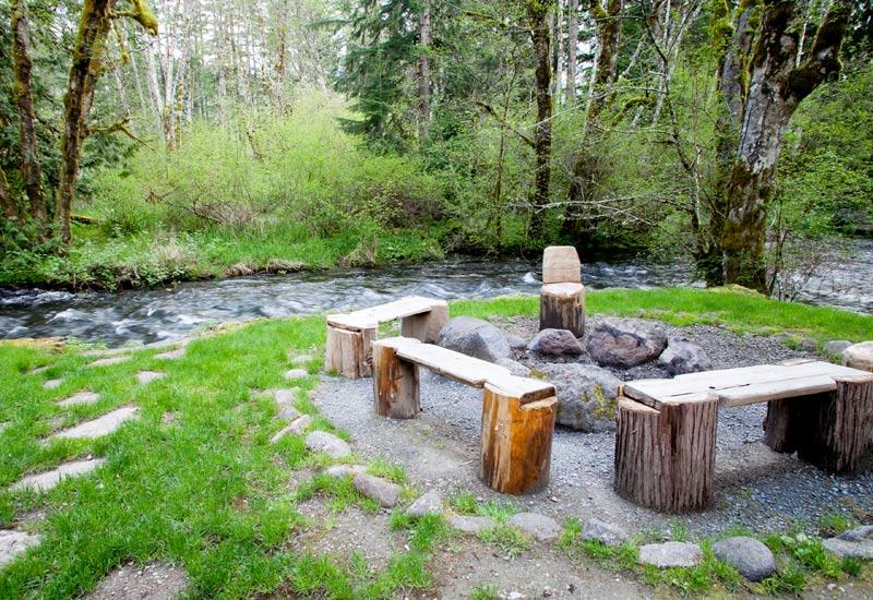 Little Bear Creekside Cabin firepit